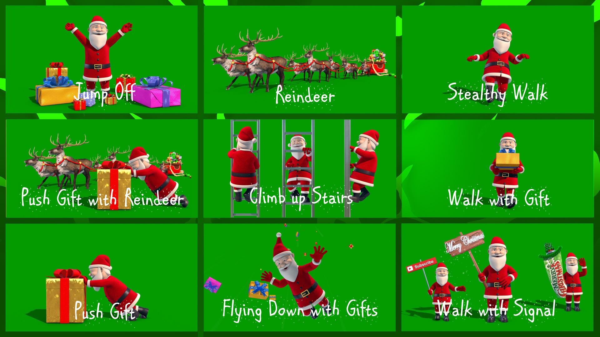 MEGA Pack Santa Claus Christmas PixelBoom