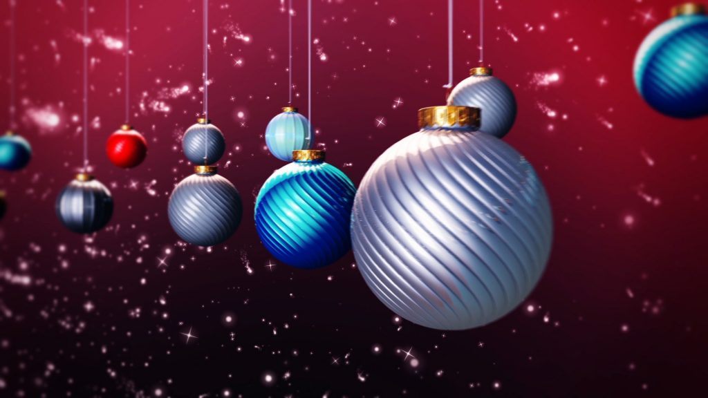 Xmas Balls Loop – 3D Model Animated