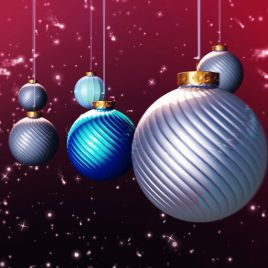 Xmas Balls Loop Animated Background Christmas Stars PixelBoom
