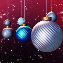 Xmas Balls Loop Animated Background Christmas Stars PixelBoom