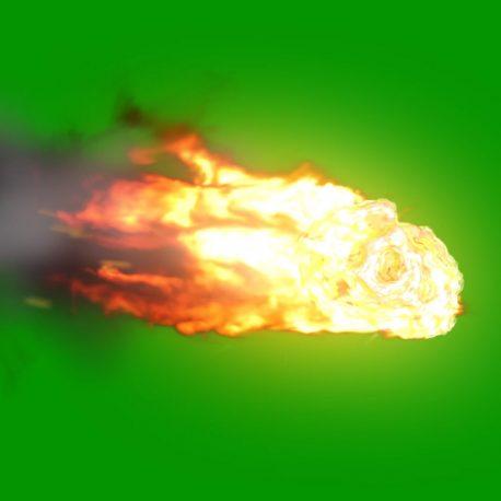 Asteroid Entering Atmosphere Space PixelBoom 3D Animations