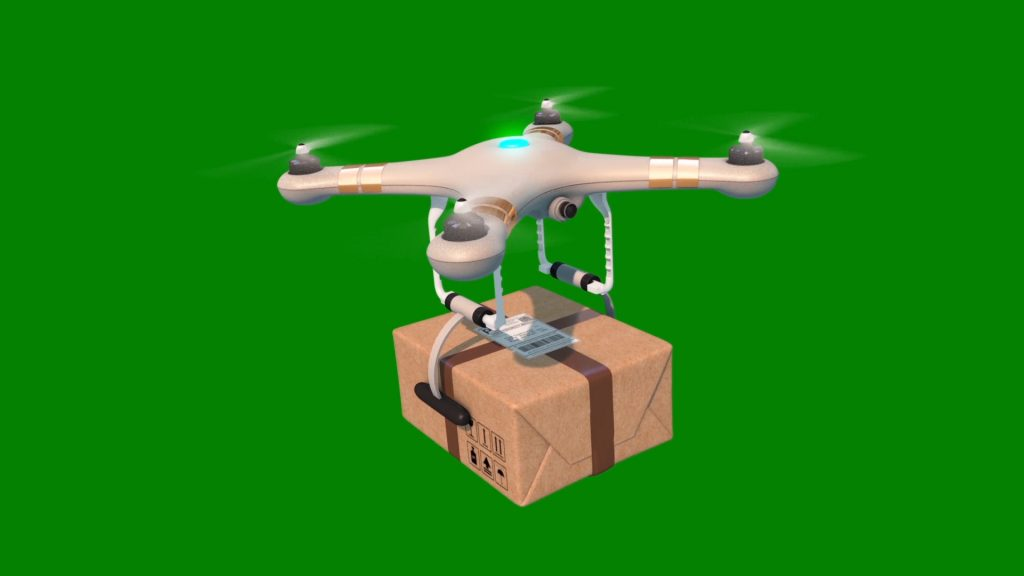 Drone Package – 3D Model Animated