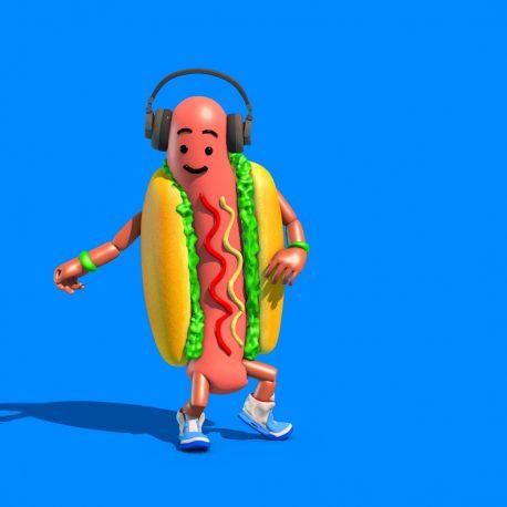 Hot Dog Food Dance Thriller Michael Jackson PixelBoom