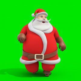 SANTA CLAUS Walking Styles 3D Animation Green Screen PixelBoom