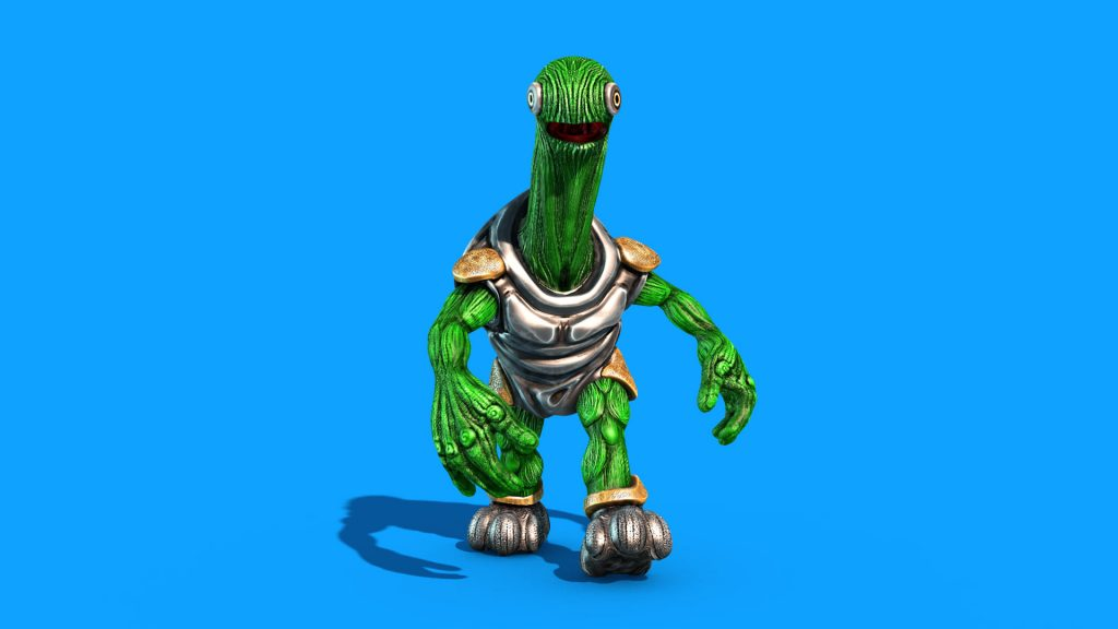 Alien Turtle Armor – 3D Model Animated