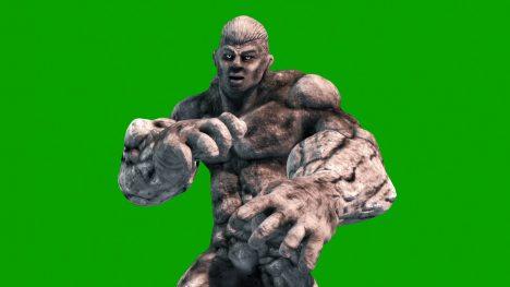 Rock Man Energy Ball – 3D Model Animated