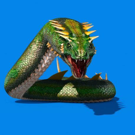Mythological SNAKE Monster Dragoon PixelBoom