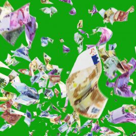 Euro Banknotes Money Rain Wind PixelBoom