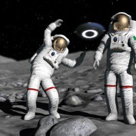 Astronaut Dances Ufo Alien PixelBoom