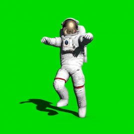 Astronaut Walks on the Moon PixelBoom