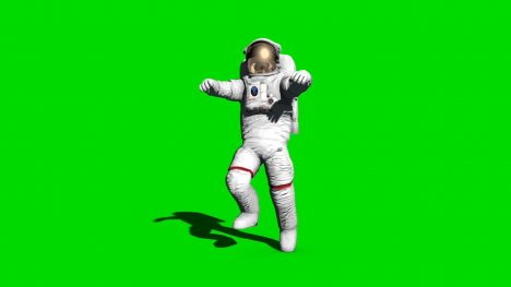 Astronaut Walks – 3D Model Animated