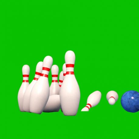 Bowling Alley Ninepins Strike PixelBoom