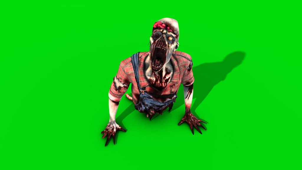 Zombie Crawler – 3D Model Animated