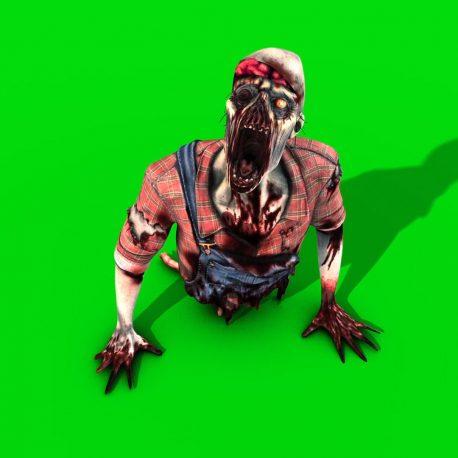 Broken Zombie Crawler PixelBoom