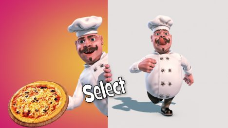 Chef Cooking Food – 3D Model Animated