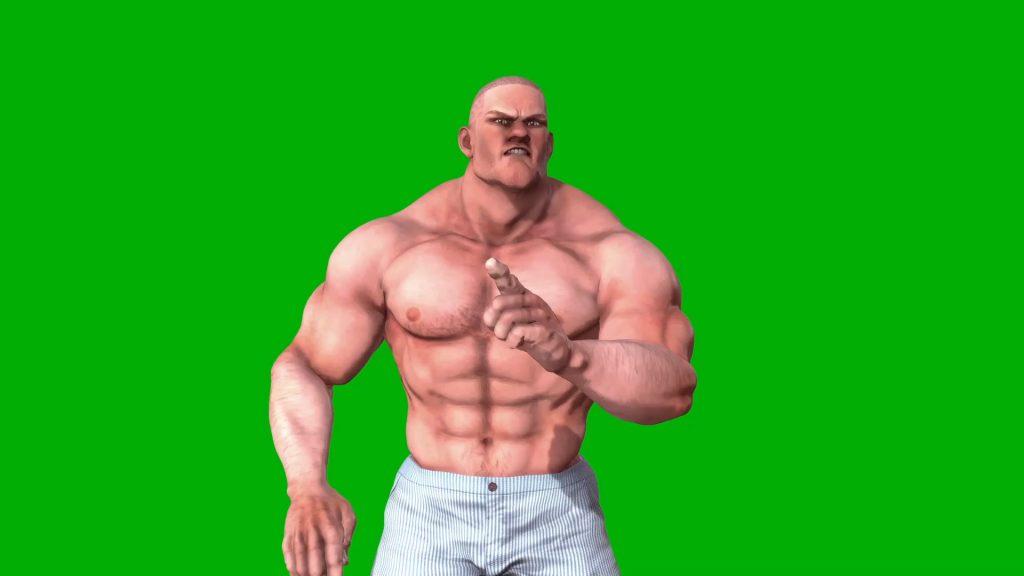 Bodybuilder Talk – 3D Model Animated