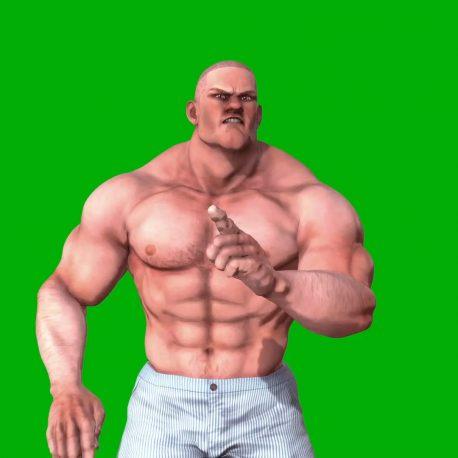 Bodybuilder Facial Expressions PixelBoom