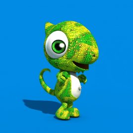 Chameleon Puppet PixelBoom