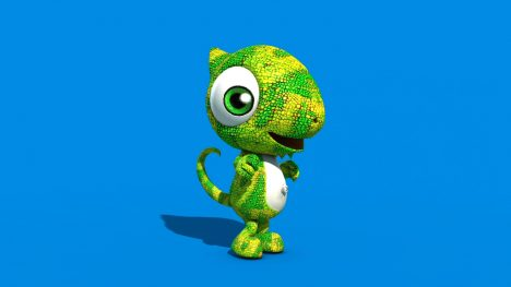 Chameleon Puppet – 3D Model Animated