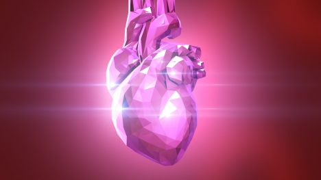 Crystal Heart Loop – 3D Model Animated
