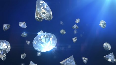 Falling Diamonds – 3D Model Animated