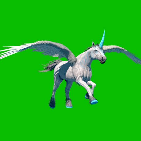 Green Screen Unicorn Pegasus Winged Horse PixelBoom