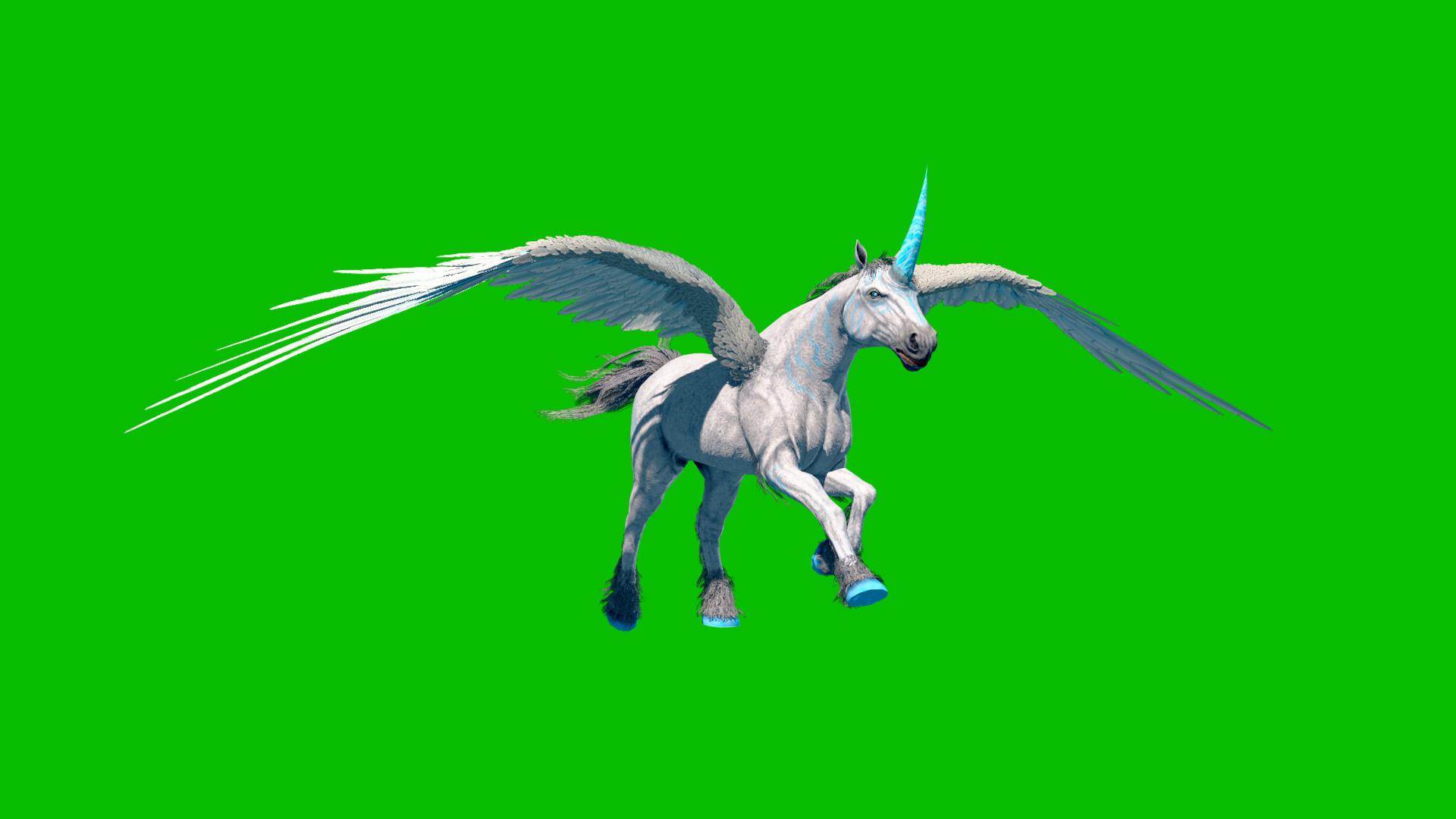 Unicorn Pegasus - 3D Model Animated