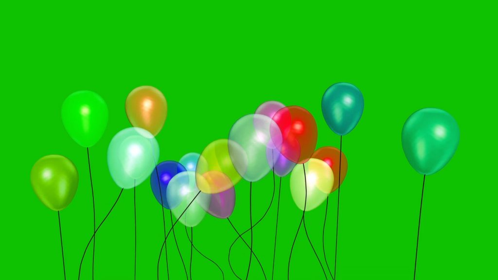 Balloons Baby Party – 3D Model Animated