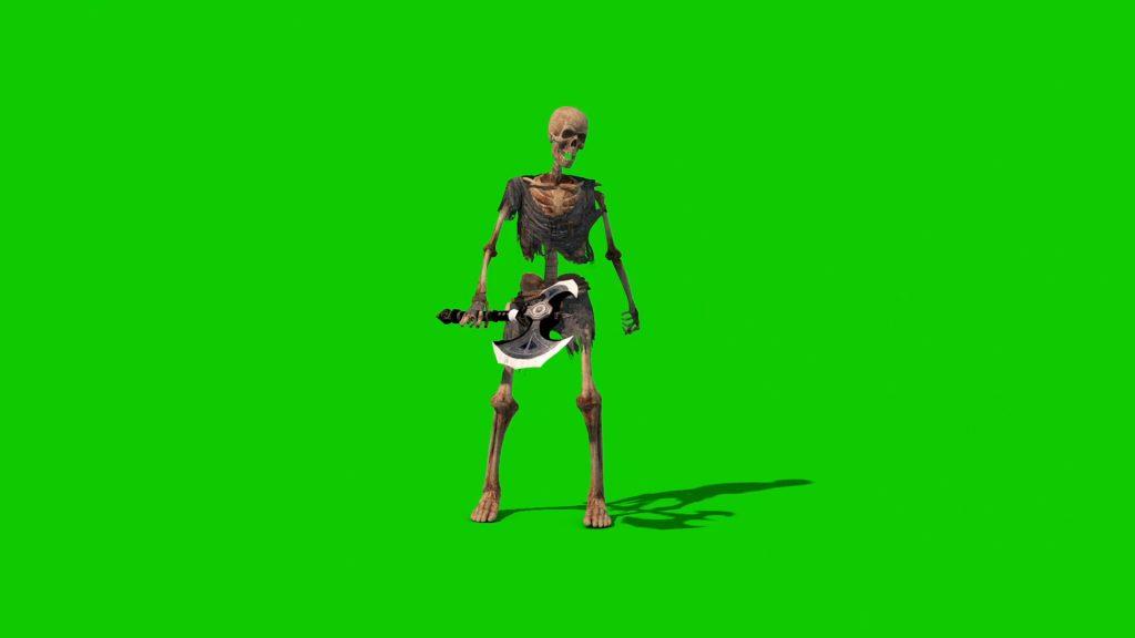 Skeleton Warrior – 3D Model Animated
