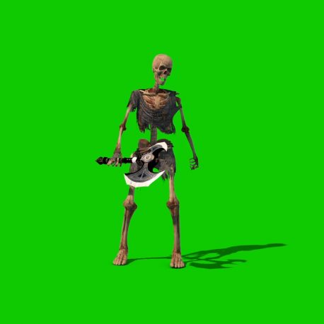 Green Screen Skeleton Warrior Animation PixelBoom
