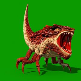Dragon Bug Monster Green Screen PixelBoom