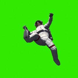 Astronaut Lost in Space Moon PixelBoom