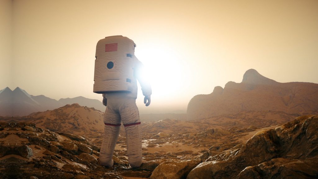 Astronaut Planet Mars – 3D Model Animated