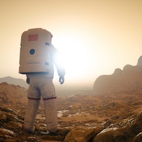 Astronaut Planet Mars 3D Animation PixelBoom