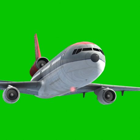 Green Screen Airplane Airliner Sky Clouds 3D Animation PixelBoom