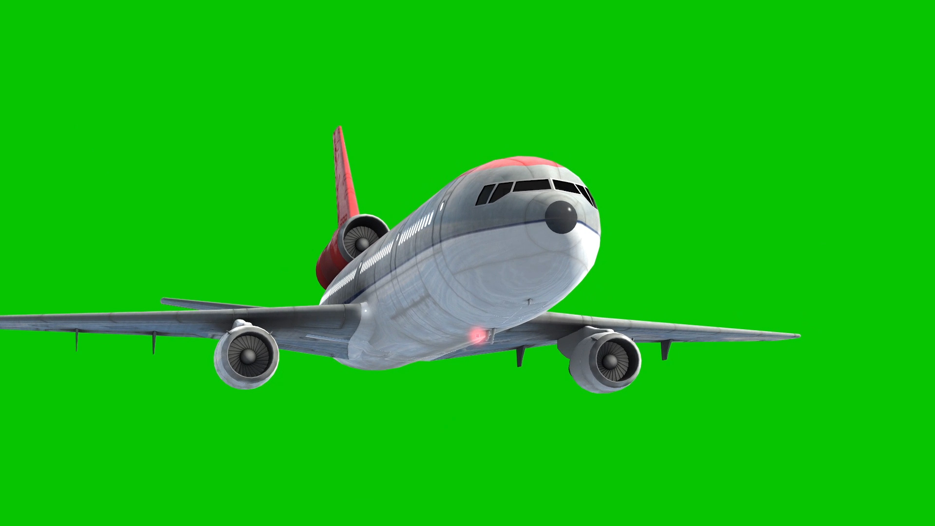 Airplane Airliner - 3D Model Animated