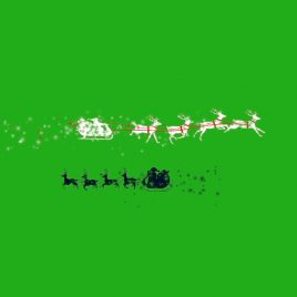 Santa Sleigh Silhouettes Particles PixelBoom