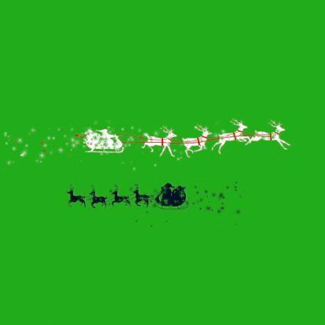 Santa Sleigh Silhouettes Particles PixelBoom