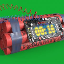 WireBomb Dynamite with Clock Timer PixelBoom