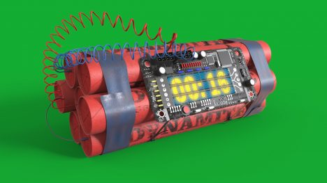 Dynamite Clock Timer – 3D Model Animated