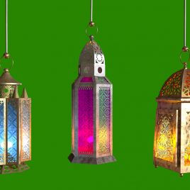 Ramadan Lanterns – 3D Model Animated