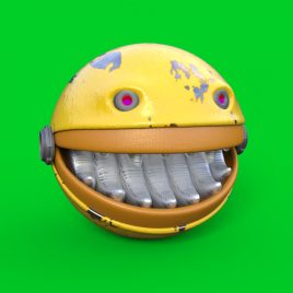 Pacman Evolution Green Screen 3D Animation PixelBoom
