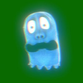 Green Screen Cartoon Ghost
