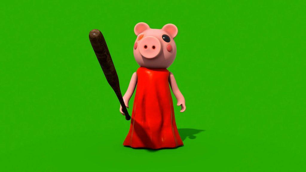 Green Screen Psycho Piggy Animation PixelBoom