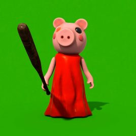 Green Screen Psycho Piggy Animation PixelBoom