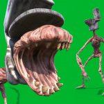 Green Screen Toilet Head Horror SCP Animation PixelBoom