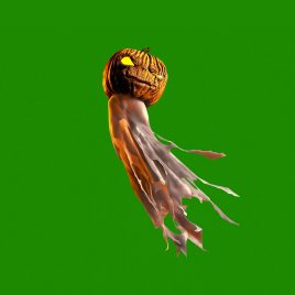 Green Screen Halloween Ghost Pumpkin Animation PixelBoom