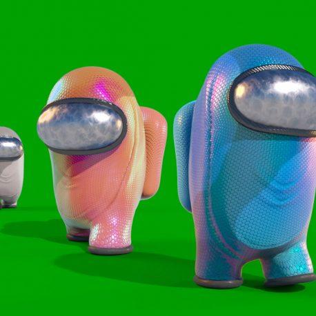 Green Screen Among Us 3D Animation PixelBoom