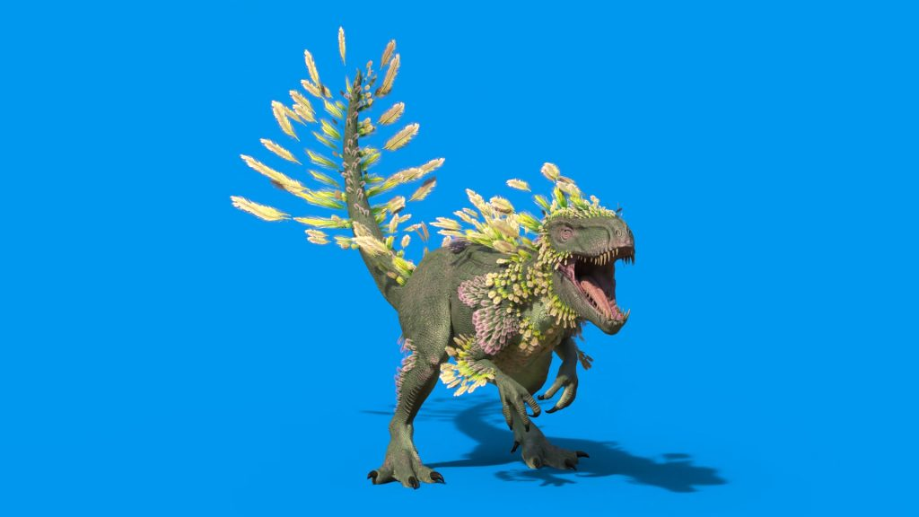 Blue Screen Feathered Dinosaur 3D Animation PixelBoom