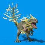 Blue Screen Feathered Dinosaur 3D Animation PixelBoom